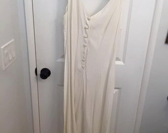 Eggshell White Maxi Dress from Express