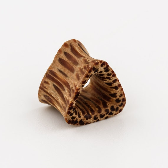 Triangle ear tunnel 8mm-0g. plugs gauges. 0g tunnel. tunnel plug. tribal ear tunnel. gauge jewelry. ear tunnels. wood ear tunnels. ear plug.