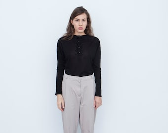 20% OFF! Venus Pants. Structured Trousers. Front Pleat Trousers. Modern Trousers. High Waist Pants.