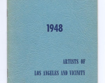 Rare Book Artists of Los Angeles LACMA Los Angeles County Museum 1948 Annual Exhibition Artists of Los Angeles and Vicinity MCM Mid Century
