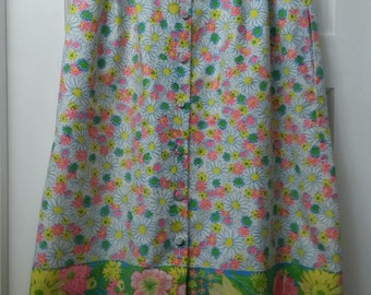 Vintage 1970s Lilly Pulitzer Floral A-Line Skirt Size 8 10 12
