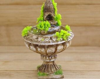 Miniature fountain. Fountain for the dollhouse. Fountain . Fountain Garden. On the scale of 1/12