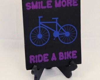 9x7 Wood Bike Sign