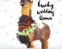 Llama Piñata | Wedding Pinata | Wishing Well | Envelope Holder | Card Holder | Gift Card | Guest Book | Paper Mache Animal | Wedding Decor