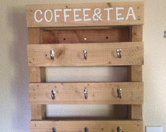 Pallet Mug Holder, handcrafted, custom made, pallet wood