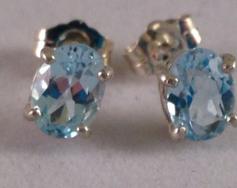 Cute yet practical Sky Blue Topaz Earrings