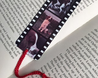 Personalised Film Strip Metal Bookmark