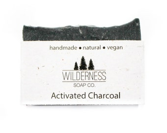 SOLD OUT -- Activated Charcoal Soap, Natural Soap, Vegan Soap, Palm Free Soap, Handmade Soap, Cold Process Soap