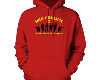 Red Fridays - Support Our Troops Cotton Pullover Hoodie