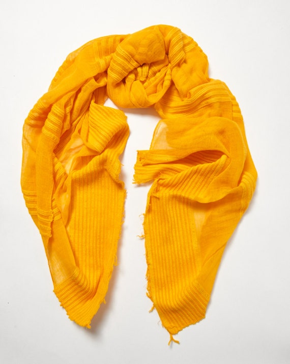Canary Yellow Scarf / Handmade Scarves / Spring Summer Scarf / Gift For Her / Women Scarves / Fashion Accessories / Made in Ethiopia