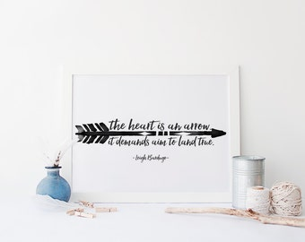 Six of Crows Quote Print, Leigh Bardugo Digital Print, The Heart is an Arrow, Young Adult Print