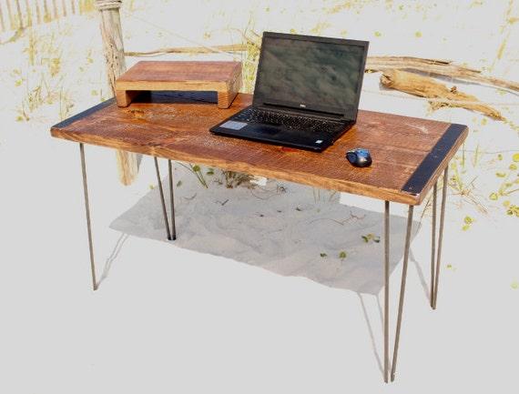 Desk, table, wood desk, computer desk, reclaimed wood desk, reclaimed wood - Desk Table Wood Desk Computer Desk Reclaimed Wood Desk