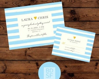 Printable Wedding Invitations // Paint Lines Modern Design // Chose Wording & Colors // DIY Printable Wedding Invites // Fully Customizable