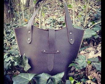 Bucket Bag Leather Handbag