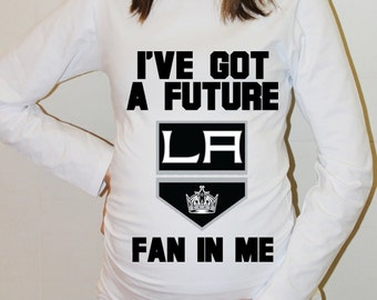 LA Kings Baby Los Angeles Kings Shirt Long Sleeved Hockey Maternity Shirts Funny Pregnancy Clothes
