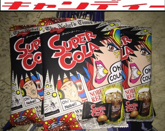 3 BAGS of Super Cola Japanese Candy