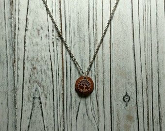 FREE SHIPPING//Tree of life necklace//hammerd down penny//