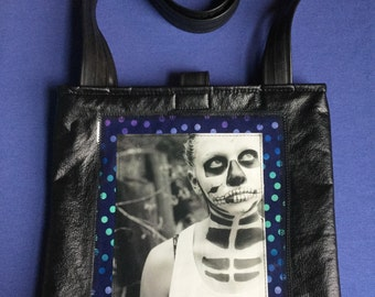 Day of the Dead vinyl Tote Bag