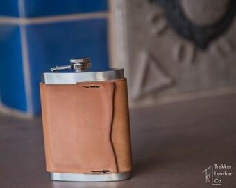 Italian Leather Flask   Custom Flasks   Handmade in the USA   Engraved Flasks