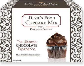Devil's Food Cupcake Mix w/Chocolate Frosting