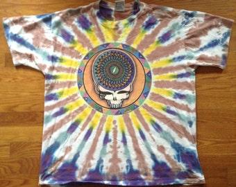 Grateful Dead Vintage 1995 Steal Your Face TieDye Shirt