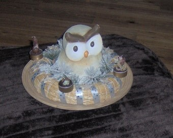 """Advent wreath: """"OWL"""""""