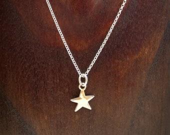 Collar Estrella de plata 925ml,hecho a mano