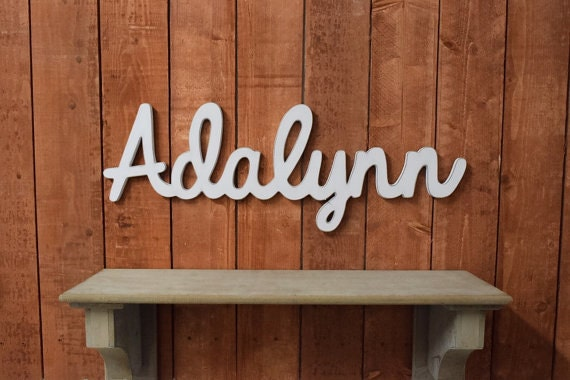Adalynn Baby Name Wooden Sign Nursery Decor Baby Name