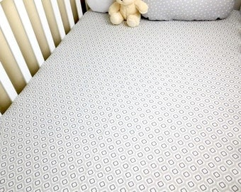 Grey baby sheet, modern baby bedding, grey crib bedding, grey nursery, grey cotton crib sheets, fitted crib sheet,  cotton baby sheets.