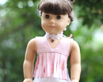White Denim Shorts-18in doll clothes