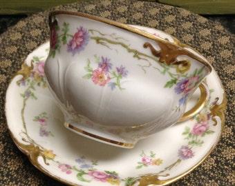 Limoges Teacup and Saucer Hostess Gift Gift for Her Gift for Mom Teacher Gift