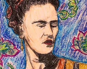 Frida Kahlo in Pastel