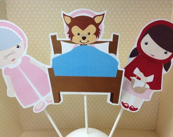 Red Riding Hood Party Centerpiece - Choose Any 3