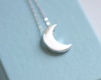 Extra Small Crescent Moon Necklace