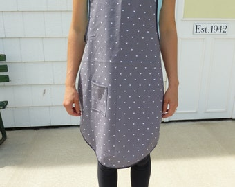 One Size Fits All Grey Triangle Apron