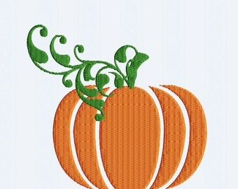 Pumpkin Embroidery Design Thanksgiving, Fall INSTANT DOWNLOAD digital file in  Exp, Hus, Jef, Pes, Vip and xxx