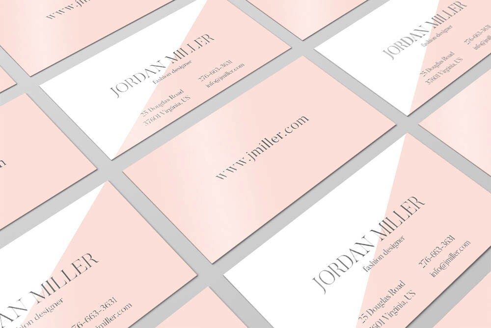 Rose quartz business card design calling card pantone card rose quartz business card design calling card pantone card modern business card reheart Choice Image