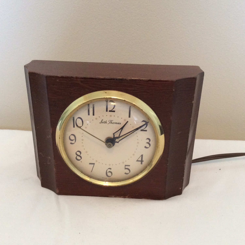 Electric Alarm Clock ~ Seth thomas electric alarm clock thomaston conn solid