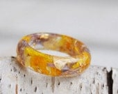 nature rings  - nature inspired rings - nature ring  - resin ring - eco resin ring - eco friendly - resin nature ring - ice resin ring