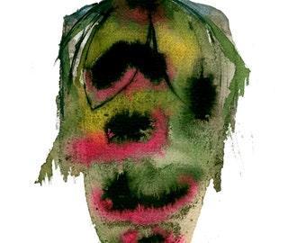 Green Beetle A4 Print
