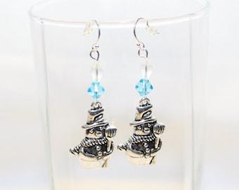 Snowman Earrings - Christmas Earrings - Holiday Earrings - Winter Earrings