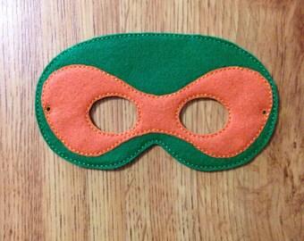 Orange TMNT mask