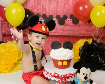 Mickey Mouse first birthday outfit, mickey mouse birthday, mickey boy first birthday outfit, mickey bow tie, mickey diaper cover set