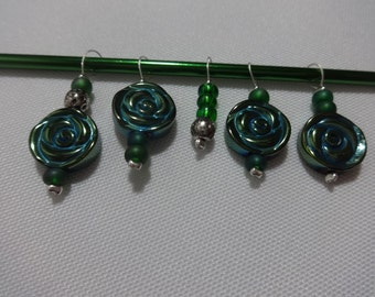 Snag Free Stitch Markers Floral