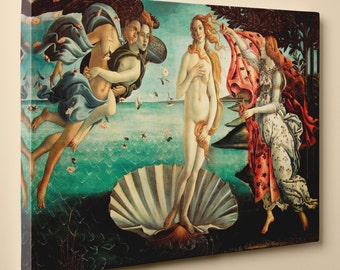The Birth of Venus by Sandro Botticelli - Canvas Print, 20 by 12 Inch