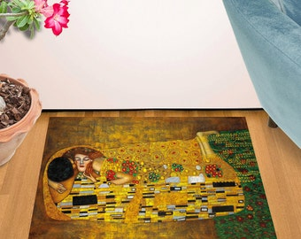 "The Kiss By Gustav Klimt Design Door Mat (24"" x 36"")"