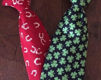 Shamrock tie, Horseshoe tie, St. Patrick's day tie, Clover tie, clip on tie, Valentine's day tie, Candy Heart Conversation Heart tie