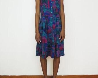 Vintage Colorful Summer Dress