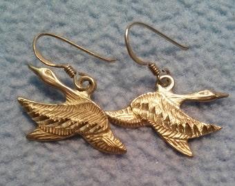 Sterling Silver Flying Geese Earrings