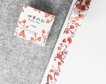 Cute washi tape - red blossom tree | Cute Stationery